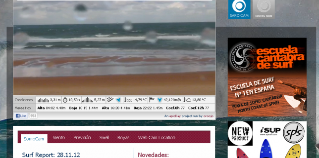 WebCam SurfCam en Somo Cantabria Northern Spain - Nalusurf